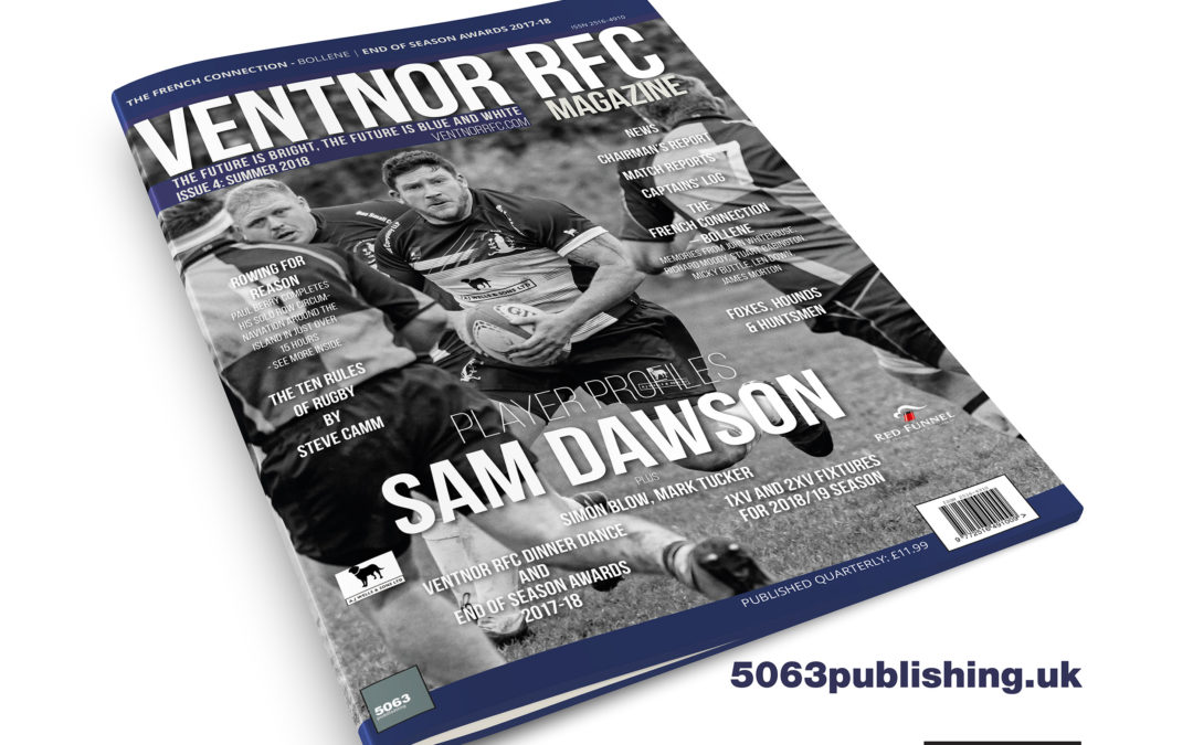 Ventnor RFC Magazine – Summer 2018 edition – available Sept 2018